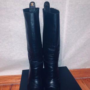 Chanel boots Sz 38.5